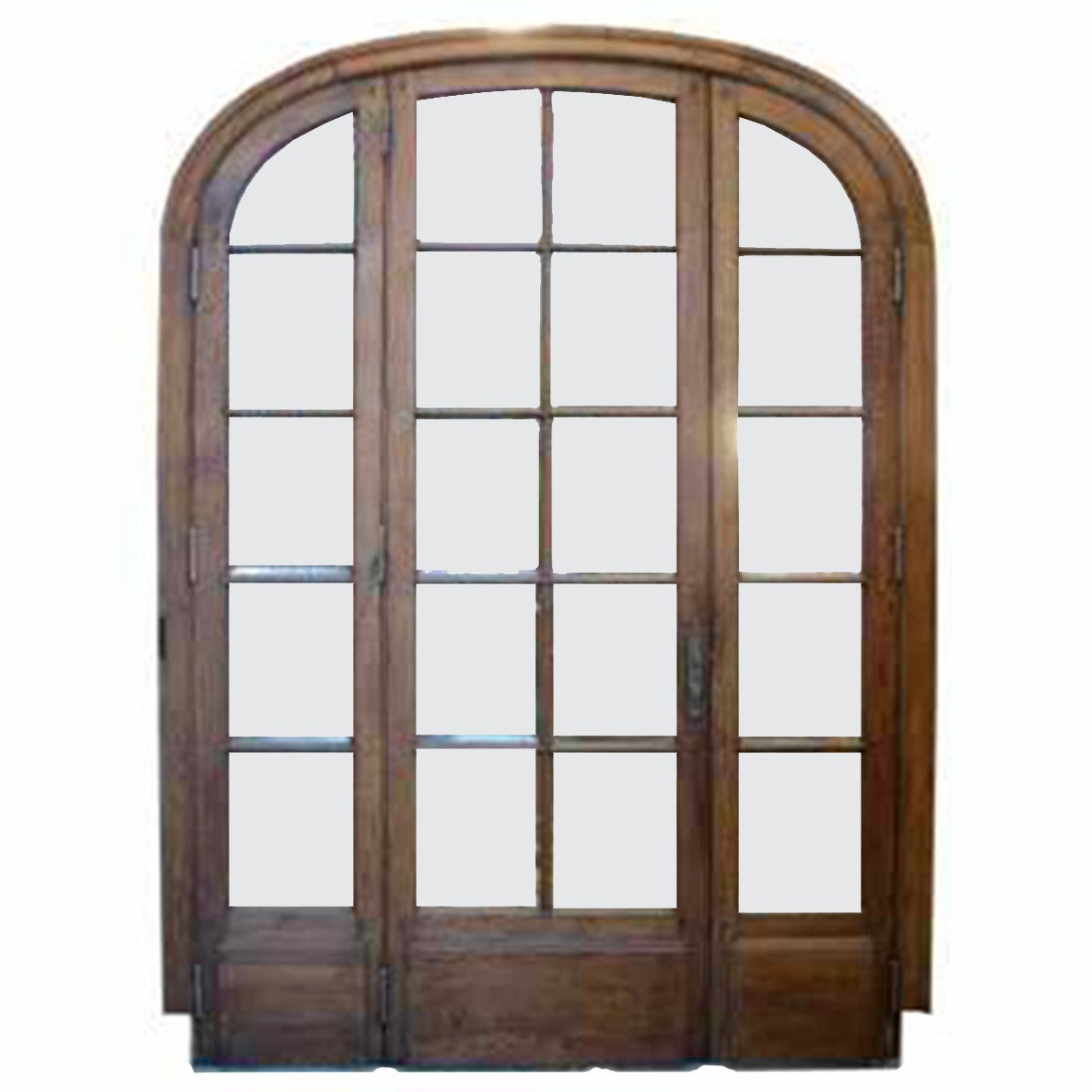 Antique triple french door with beveled glass at 1stdibs for Glass french doors