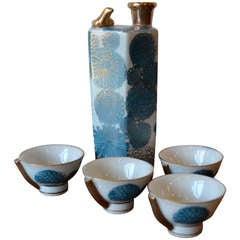 Early 20th Century Kutani Sake Set