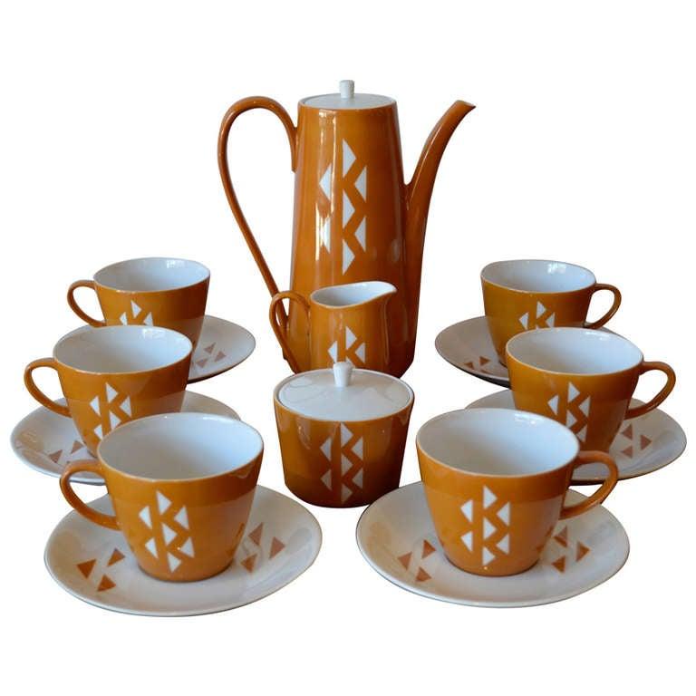 Mid Century Japanese Porcelain Coffee or Tea Set by Jonas Roberts