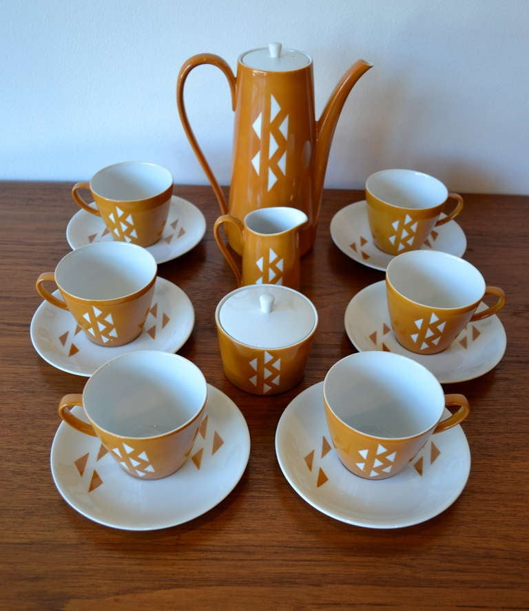 Mid-Century Modern Mid Century Japanese Porcelain Coffee or Tea Set by Jonas Roberts