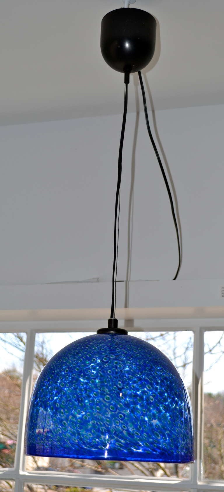 this vibrant blue murano glass pendant light by vistosi is no longer. Black Bedroom Furniture Sets. Home Design Ideas