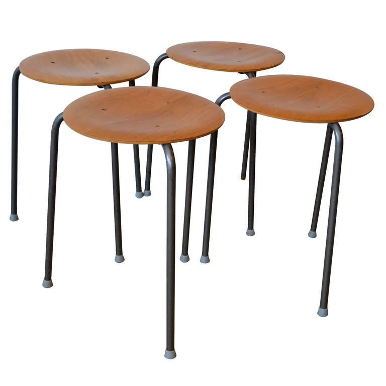 Arne Jacobsen Stacking Stools At 1stdibs