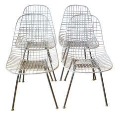 Eames Wire Dining Chairs By Herman Miller