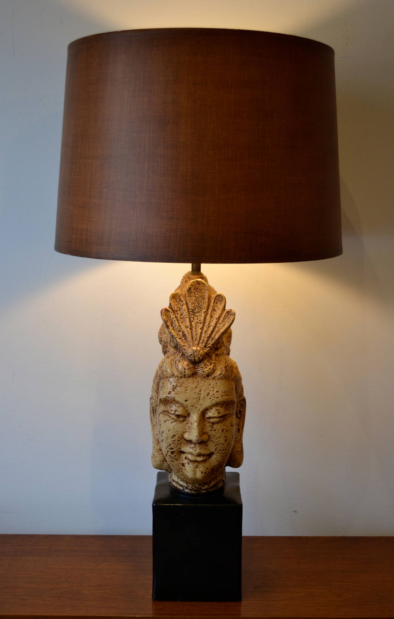 James Mont Buddha Head Table Lamp 2