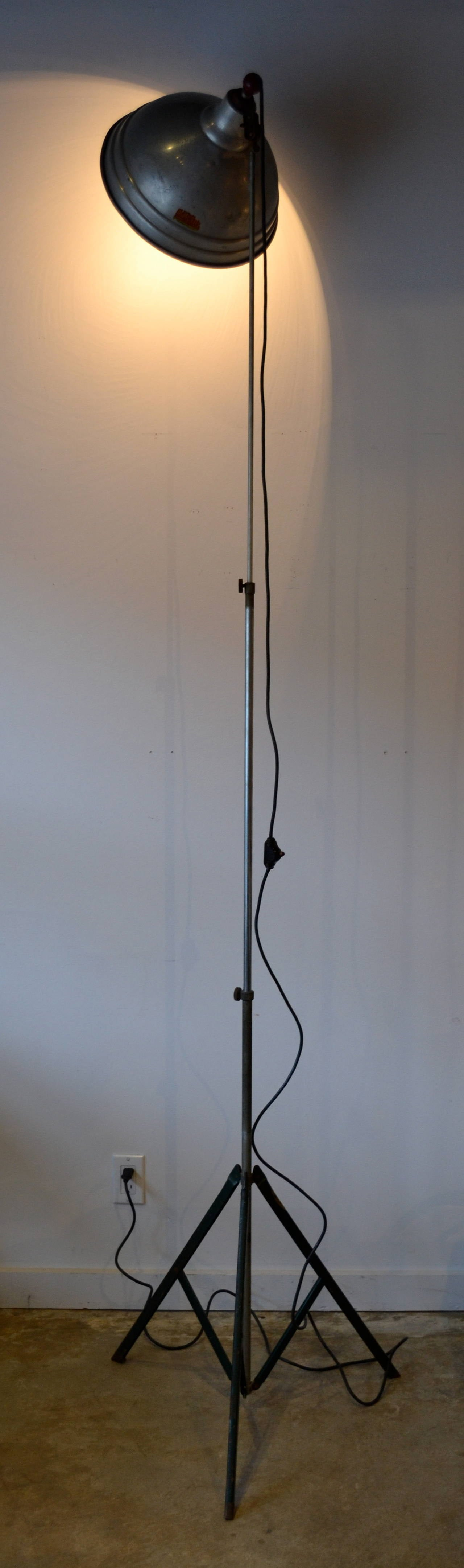 this vintage industrial floor lamp by acme lite usa is no longer. Black Bedroom Furniture Sets. Home Design Ideas
