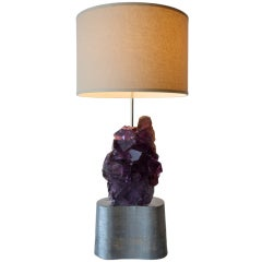 Sculptural Flourite Table Lamp by Carole Stupell
