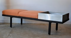 Mid Century George Nelson Steel Frame Planter Bench for Herman Miller, 1960's