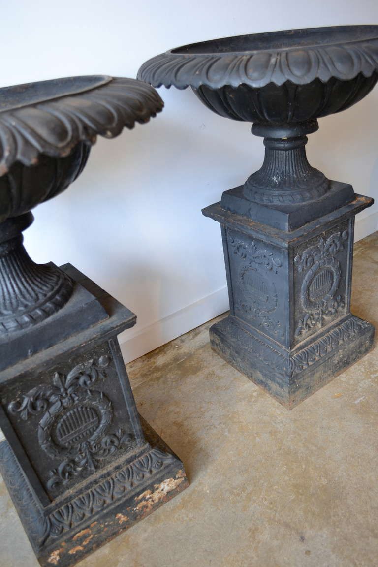 Victorian Style Large Cast Iron Planters At 1stdibs