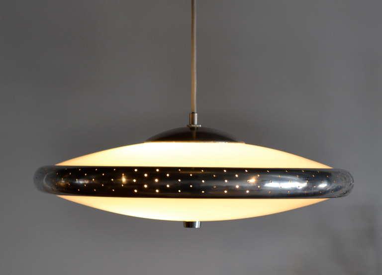 mid century ufo saucer pendant light at 1stdibs