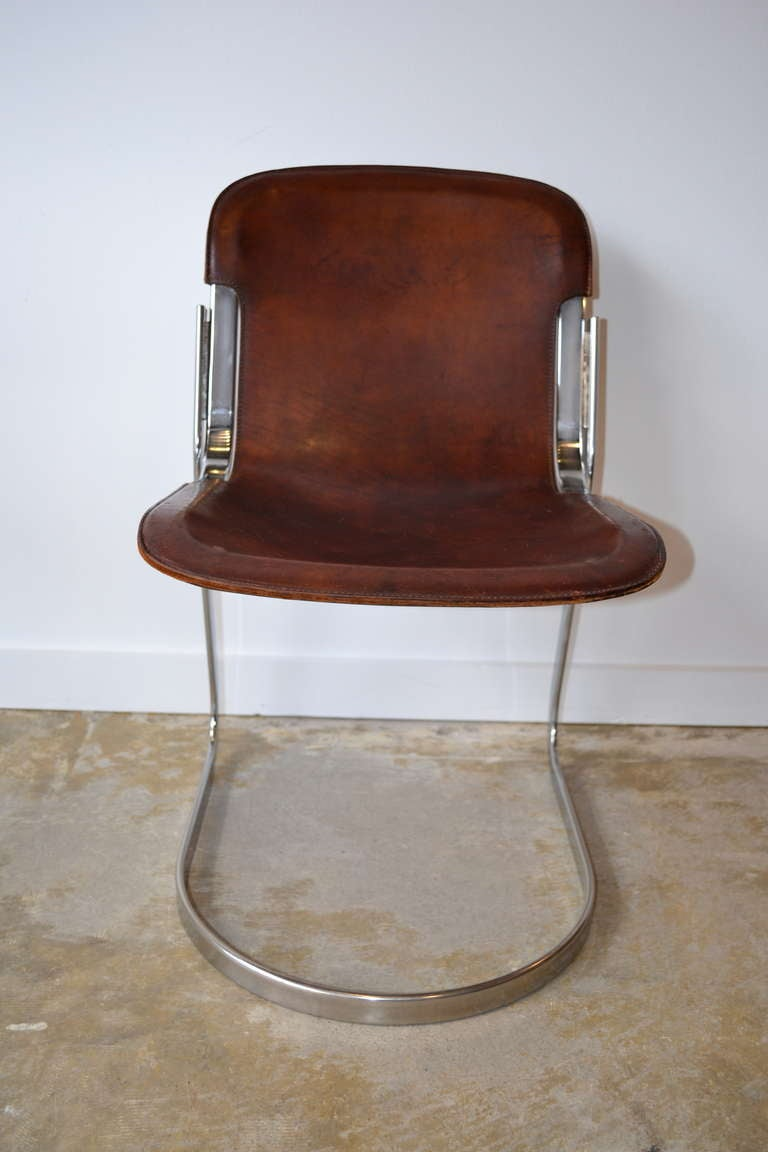 1970 39 s cidue edition chrome leather chair at 1stdibs. Black Bedroom Furniture Sets. Home Design Ideas