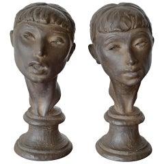 Fred Press Ballerina Bust Sculptures