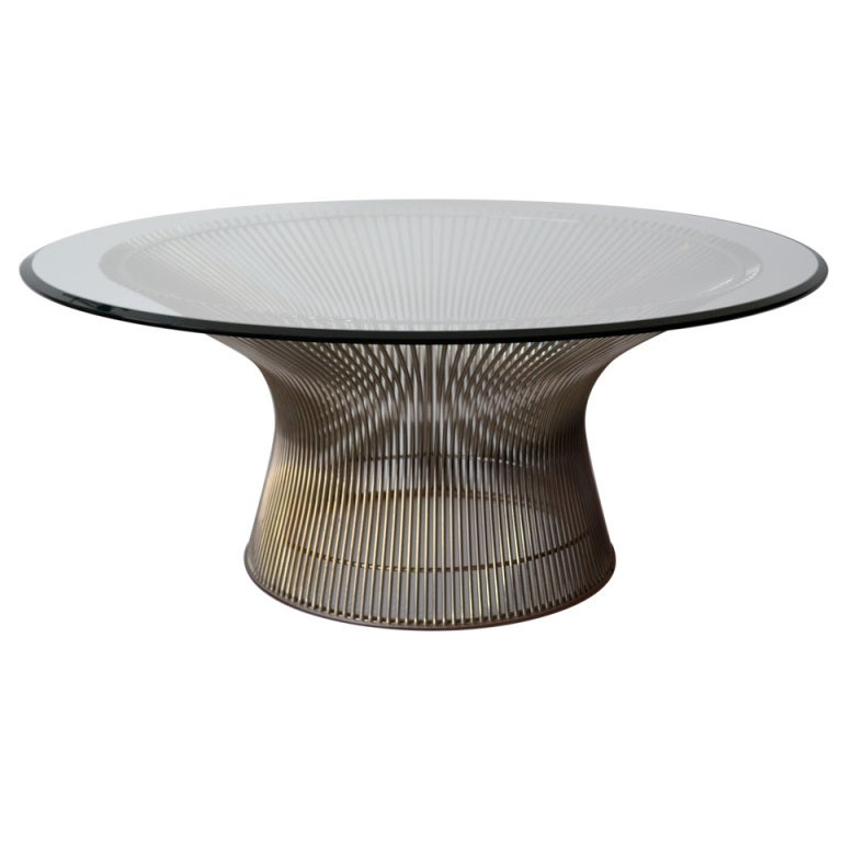 Mid century warren platner for knoll coffee table for Table warren platner