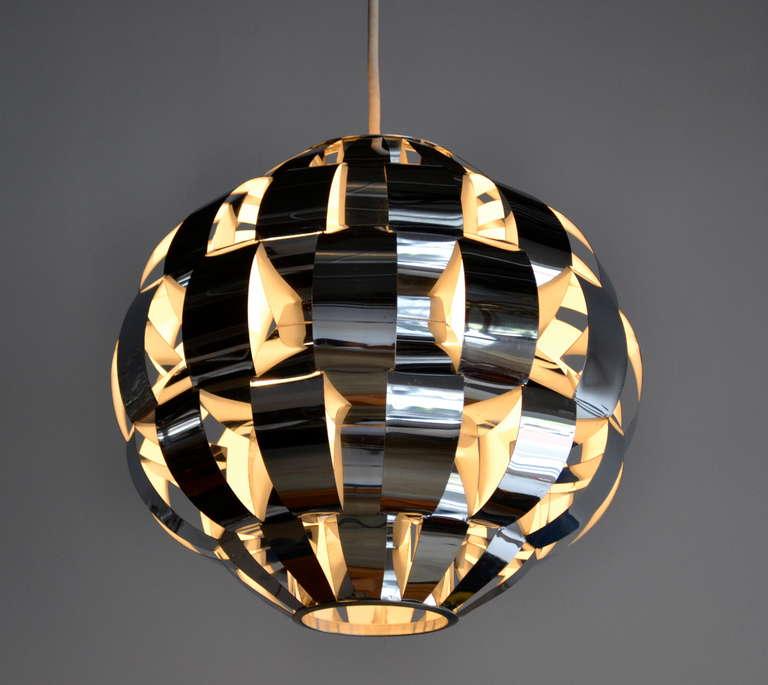 woven aluminum pendant light by Lightolier at 1stdibs