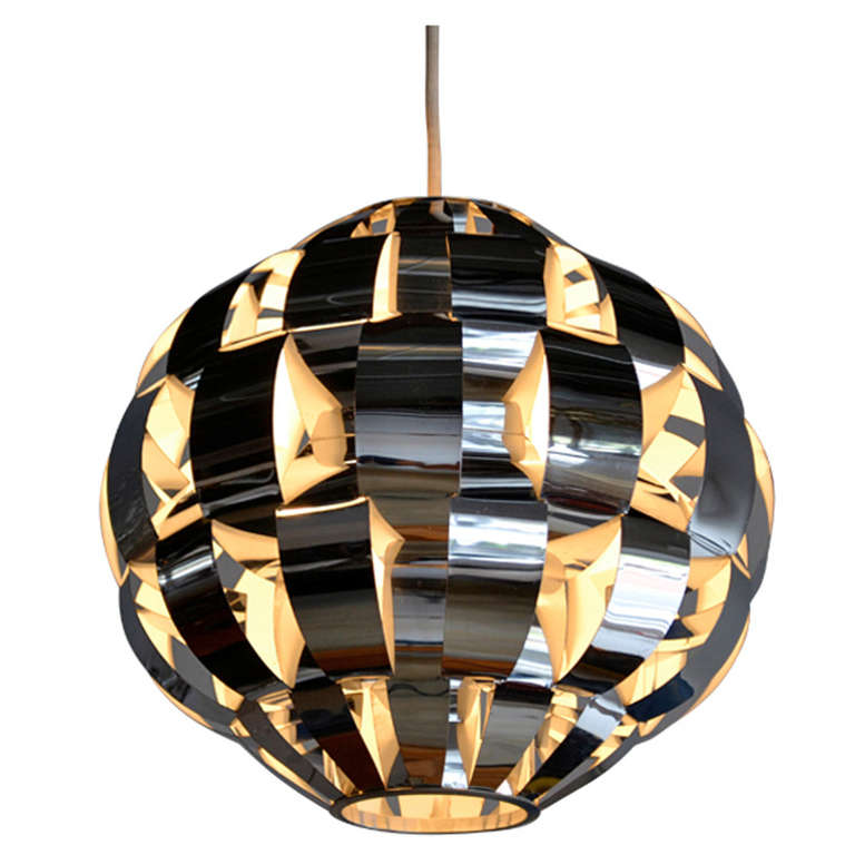 woven aluminum pendant light by Lightolier at 1stdibs