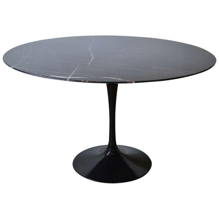 Eero Saarinen Tulip Base and Black Carrera Marble Dining  : 1175800l from www.1stdibs.com size 768 x 768 jpeg 16kB
