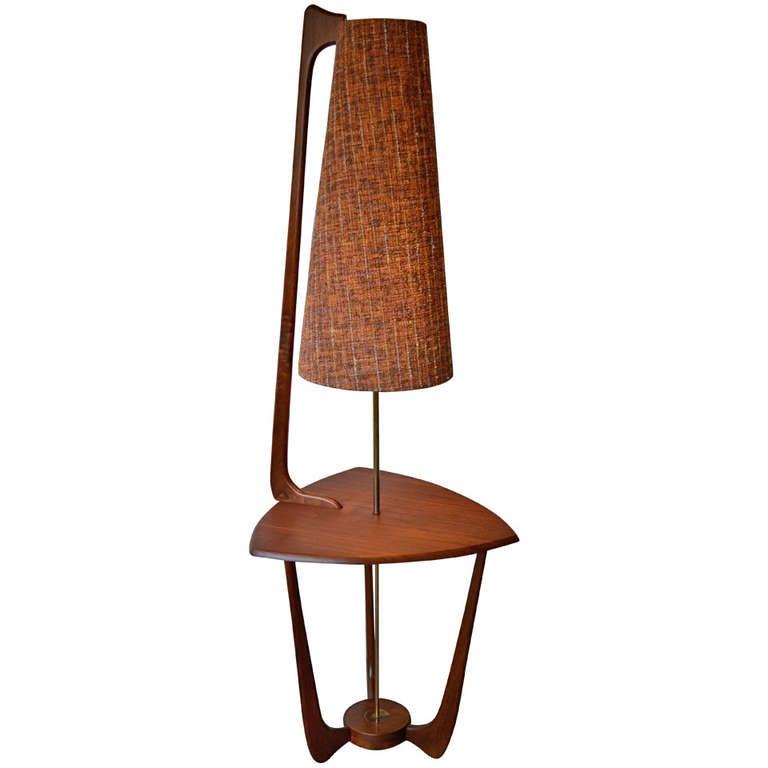 iconic mid century table floor lamp at 1stdibs. Black Bedroom Furniture Sets. Home Design Ideas