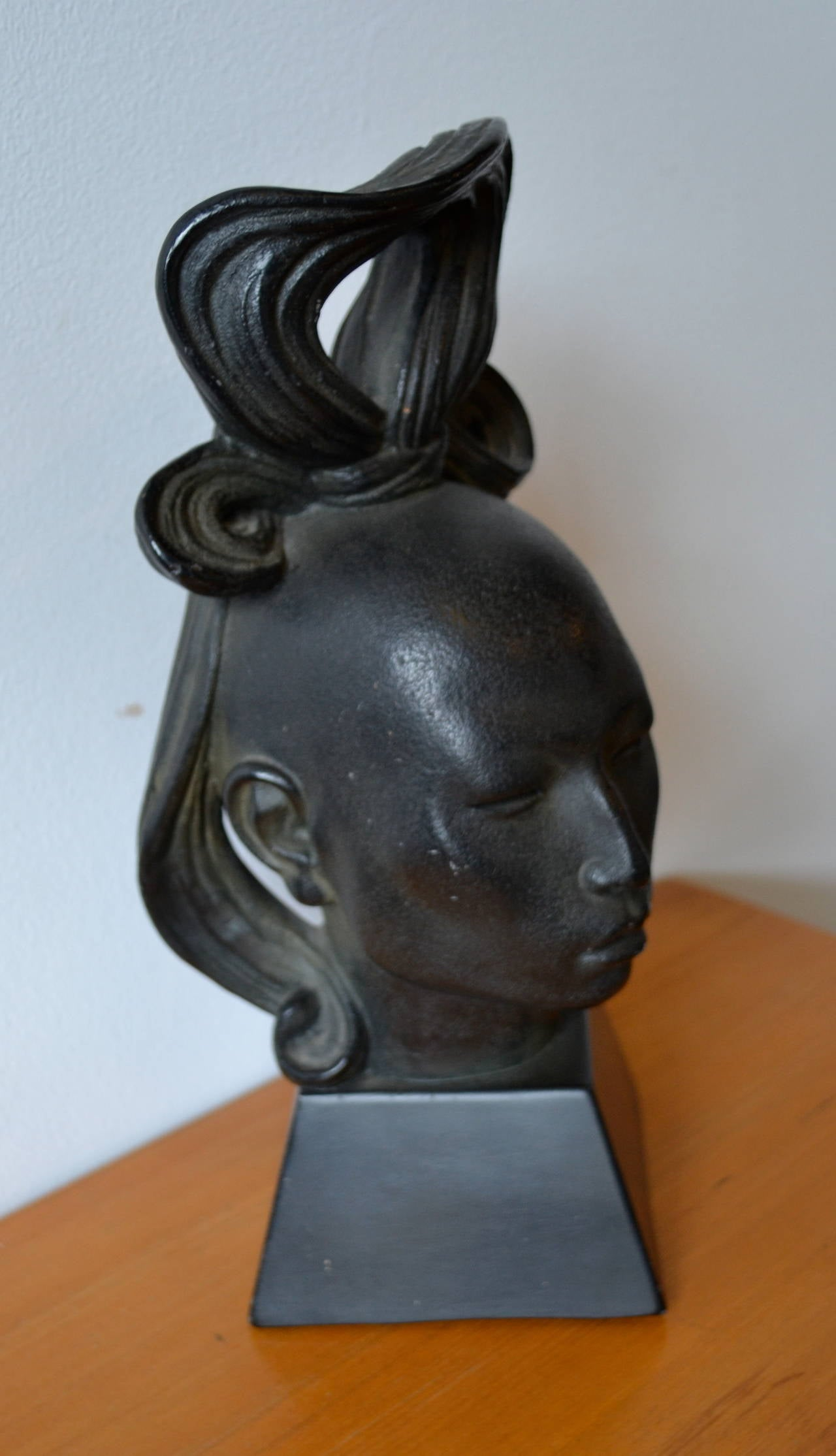 Tribal African Female Sculpture By Artist Fred Press