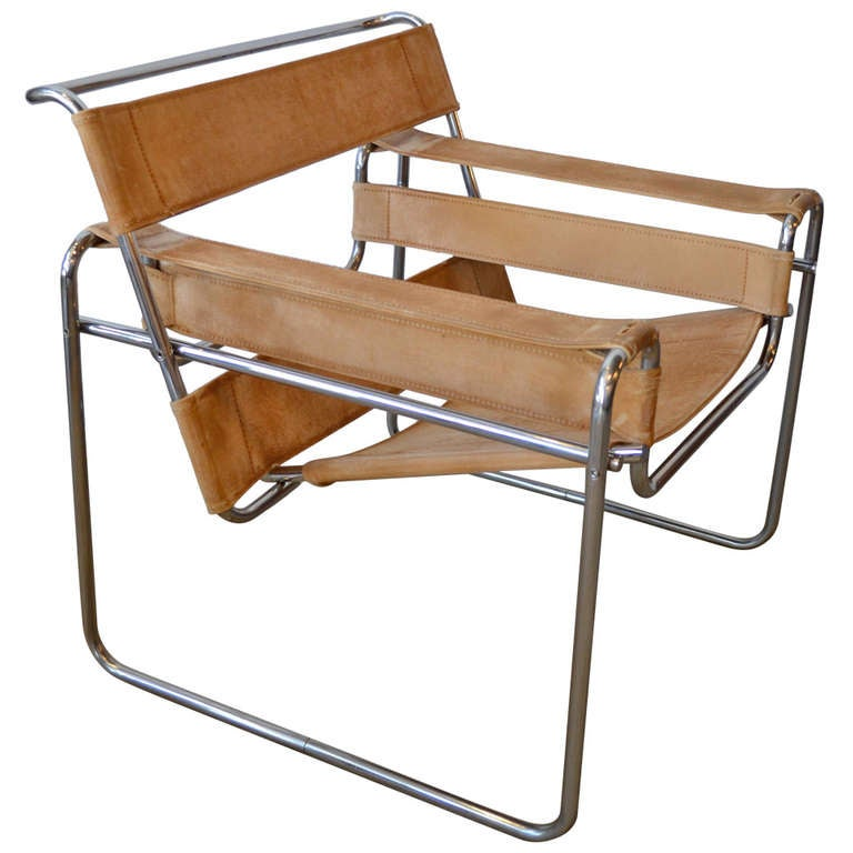 wassily chair by marcel breuer at 1stdibs. Black Bedroom Furniture Sets. Home Design Ideas