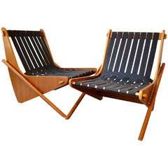 "richard neutra ""boomerang"" easy chairs"