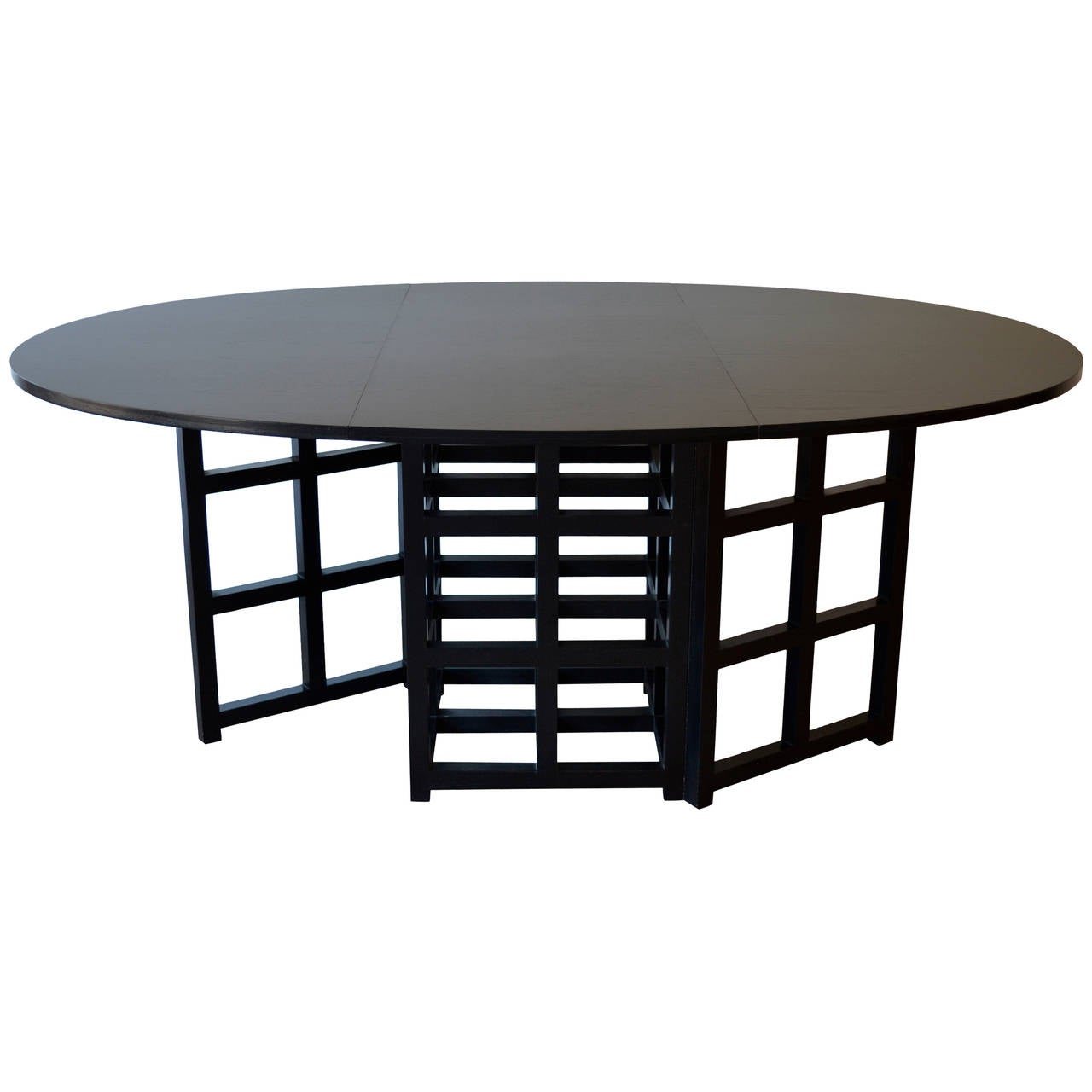 Oval Black Drop Leaf Dining Table By Charles Rennie Mackintosh At 1stdibs