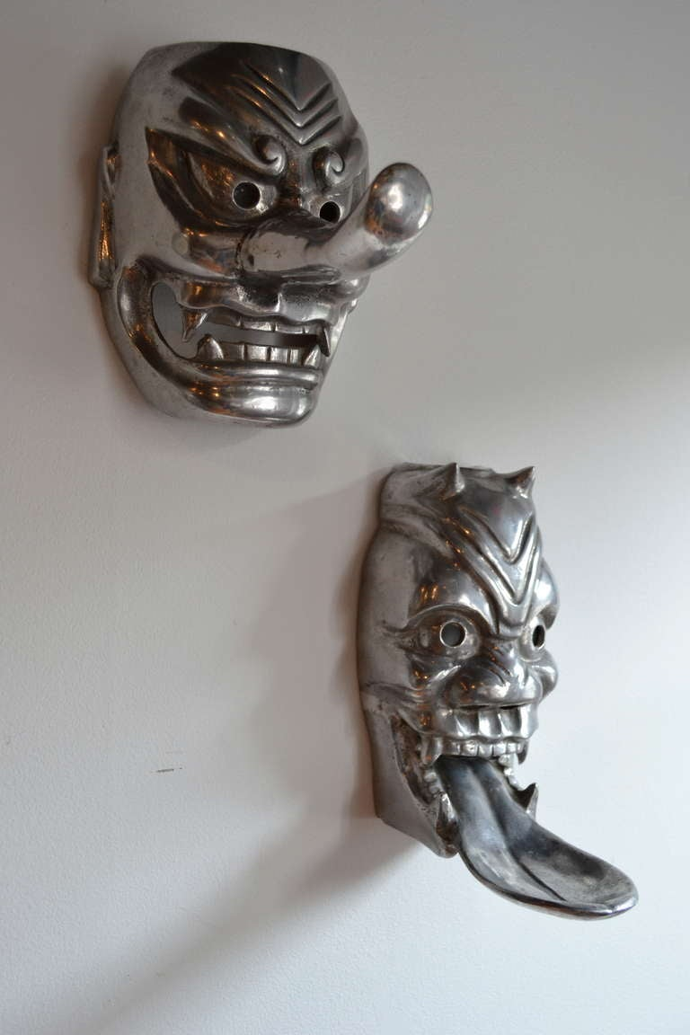Pair Of Arthur Court Aluminum Mask Soap Dish And Towel