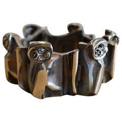 """flame bronze """"maginot"""" bracelet by bjorn weckstrom for lapponia"""