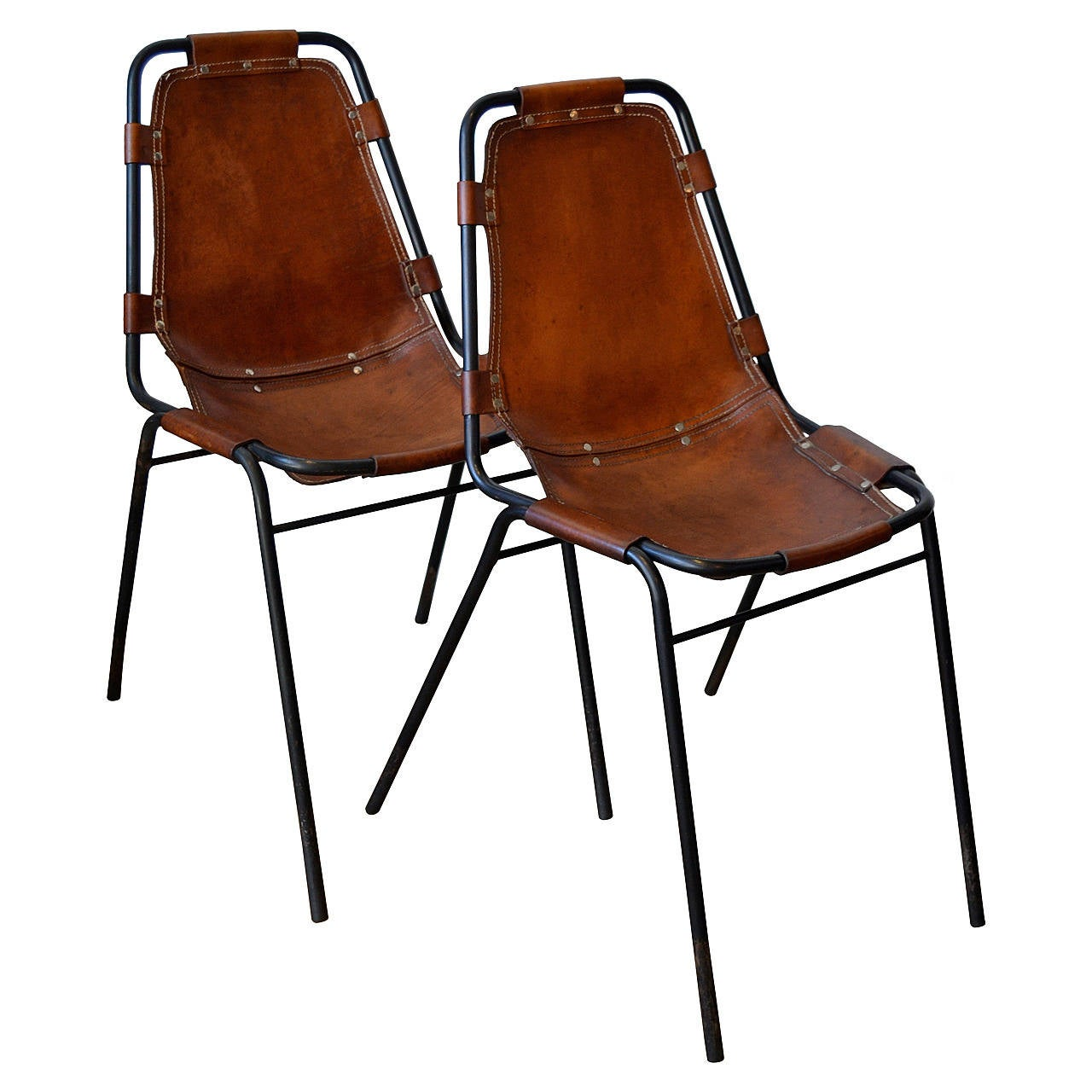 Charlotte Perriand Quot Les Arcs Quot Metal And Leather Side