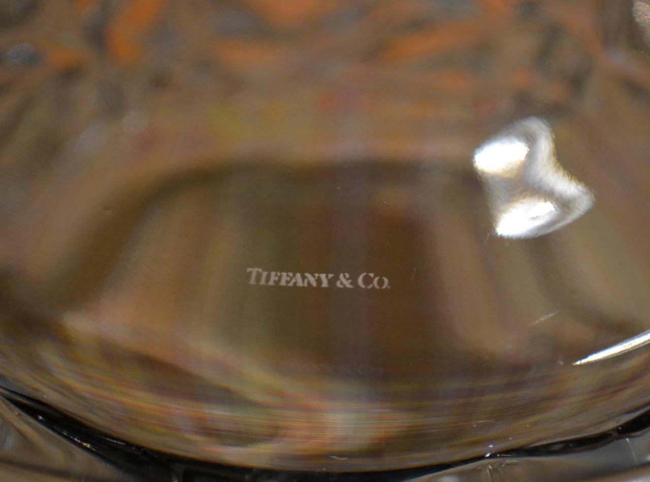 "Mid-Century Modern ""Rock Cut"" Crystal Ice Bucket by Tiffany & Co. 3"