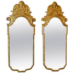 Pair of French 19th Century Gilded Mirrors