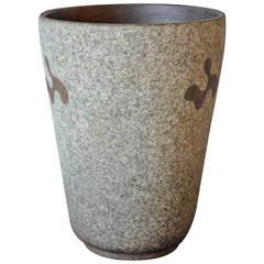 Rolf Key-Oberg Glazed Stoneware Pottery Vase, circa 1950s