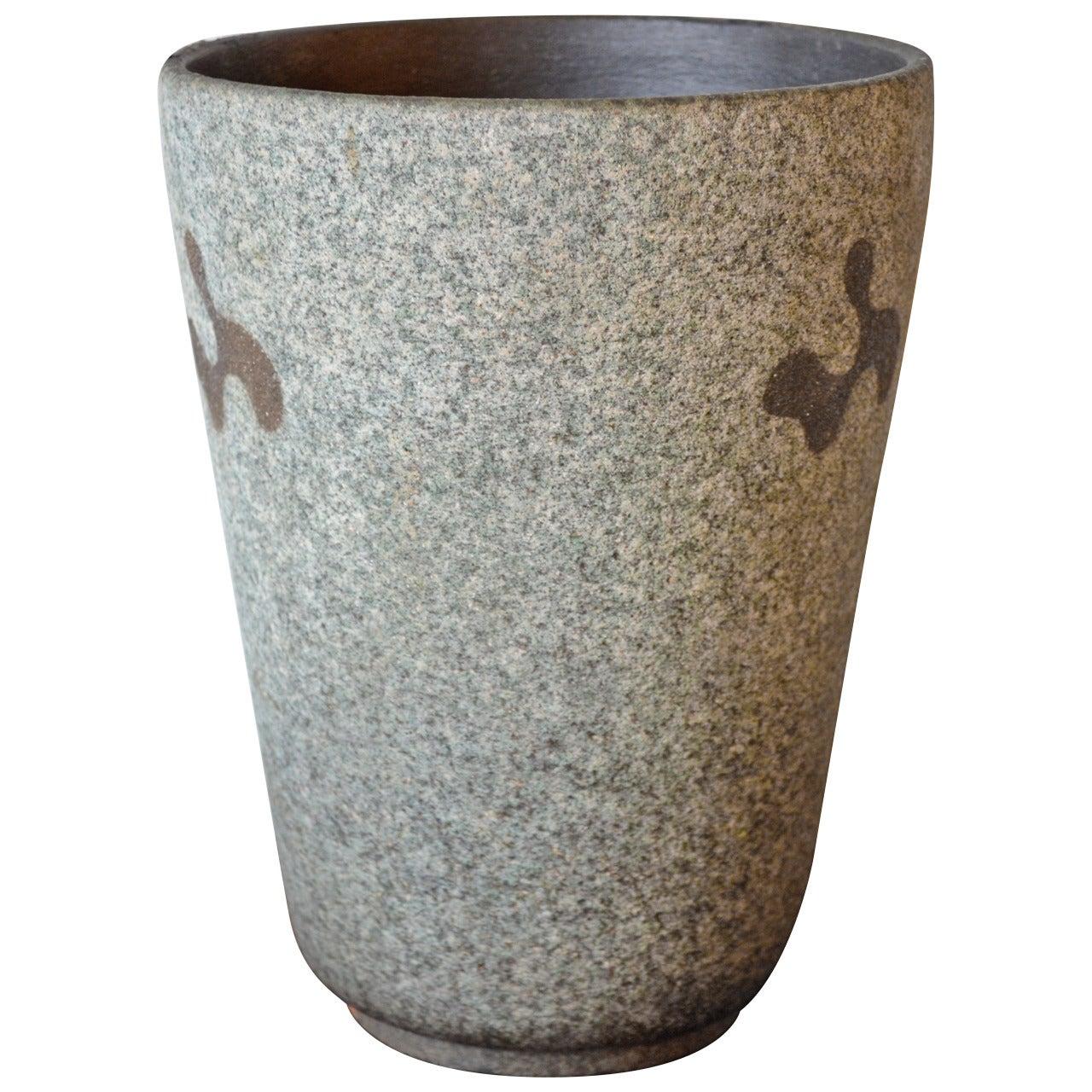 Mid Century Modern Glazed Vase by Rolf Key-Oberg, circa 1950's