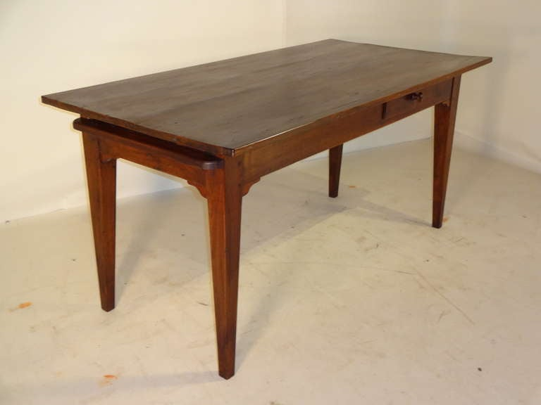 18th century french farm table with breadboard end at 1stdibs