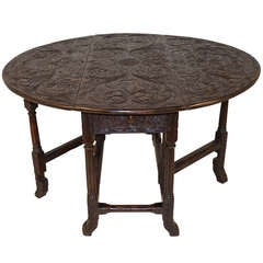 Charles II Carved Gate Leg Table