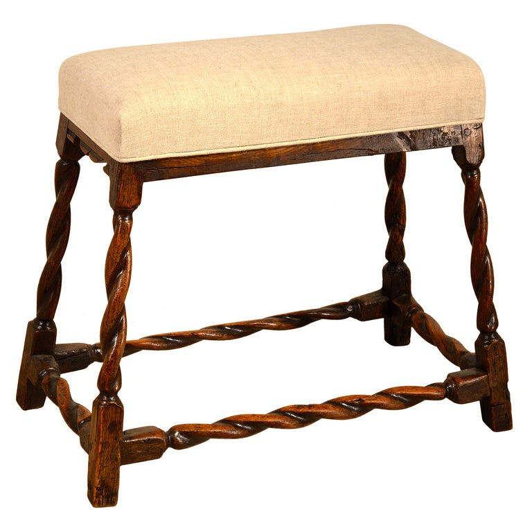 17th Century English Oak Bench For Sale