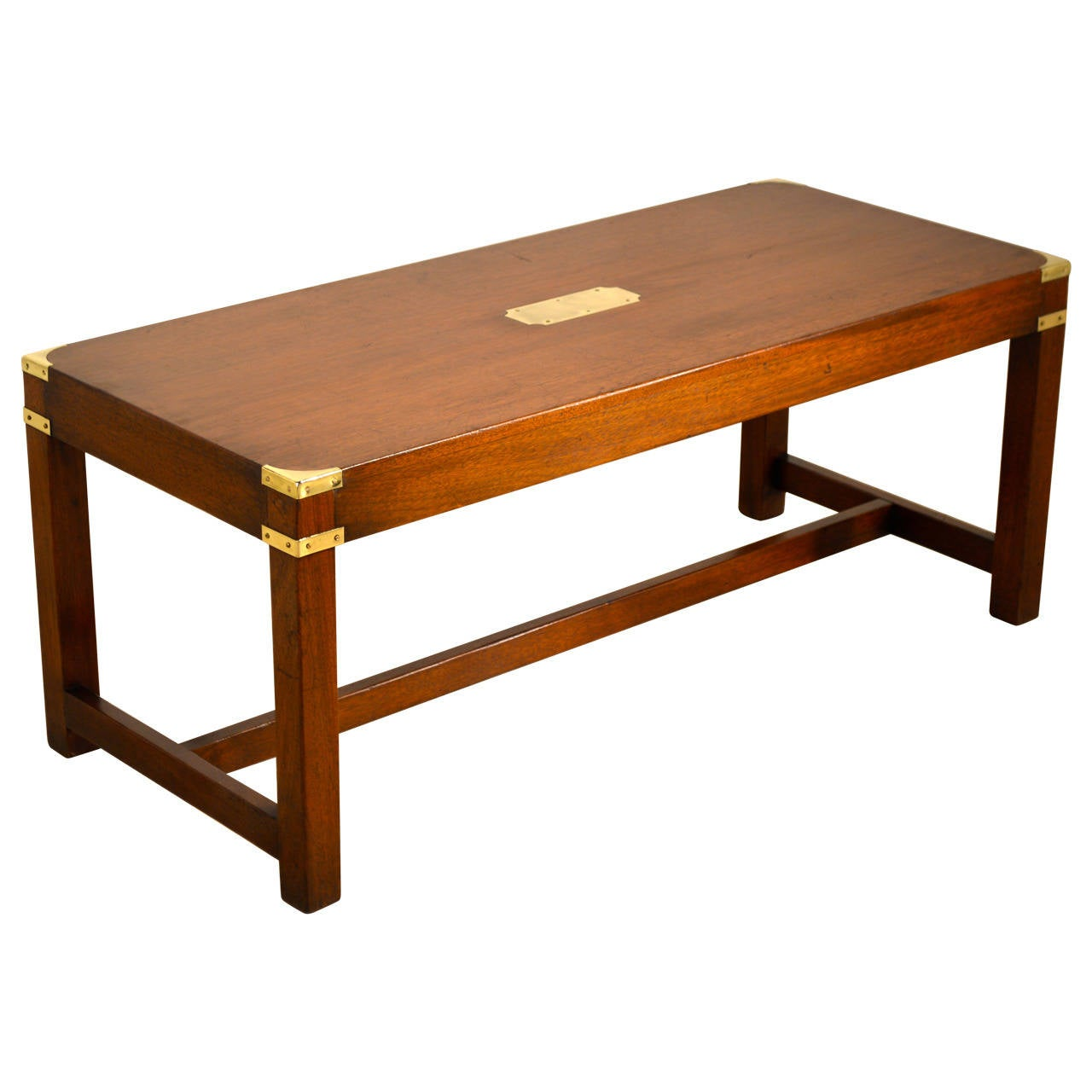 English Campaign Coffee Table, circa 1940 1 - English Campaign Coffee Table, Circa 1940 At 1stdibs