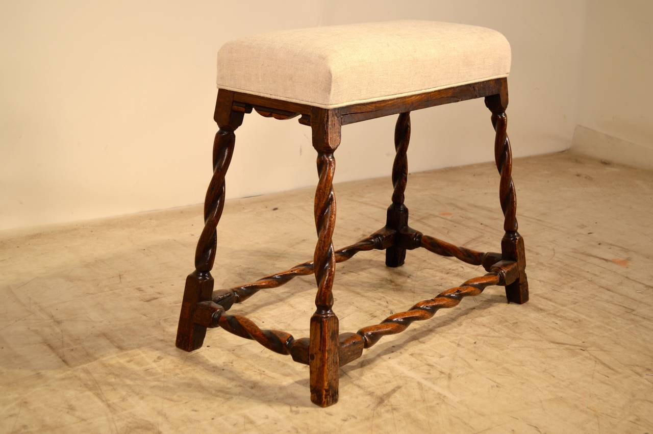 William and Mary 17th Century English Oak Bench For Sale