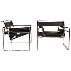 """Pair of Bruer """"Wassily"""" Style Chairs"""