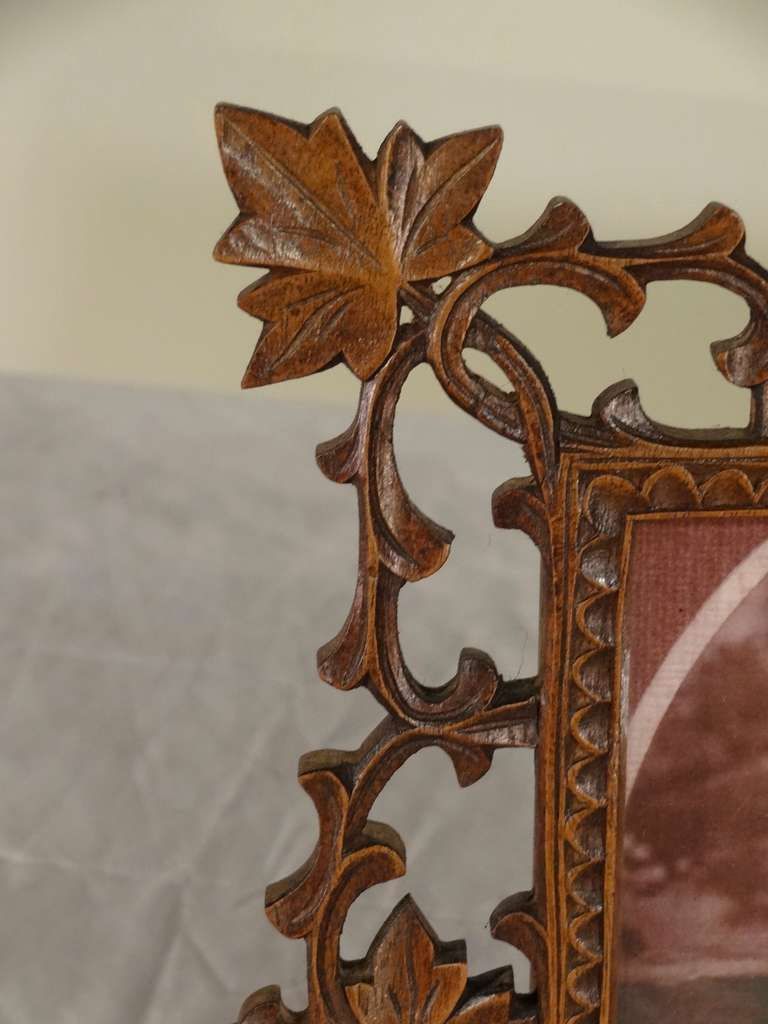19th Century Pair of Black Forest Carved Picture Frames image 5
