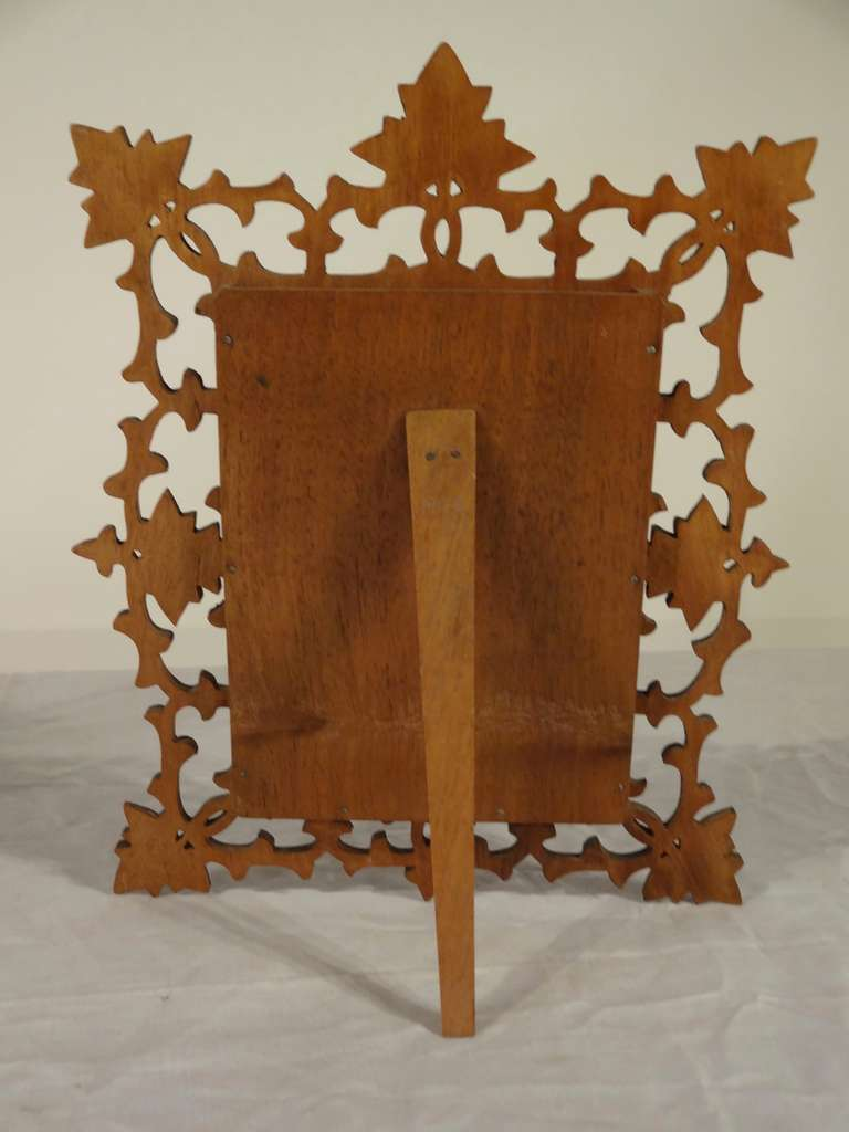 19th Century Pair of Black Forest Carved Picture Frames image 6