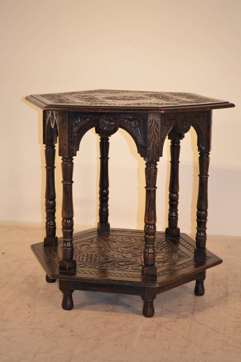 19th century english carved center table at 1stdibs for Table th center text