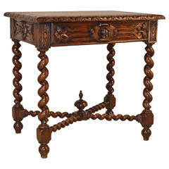 19th Century, French Walnut Side Table