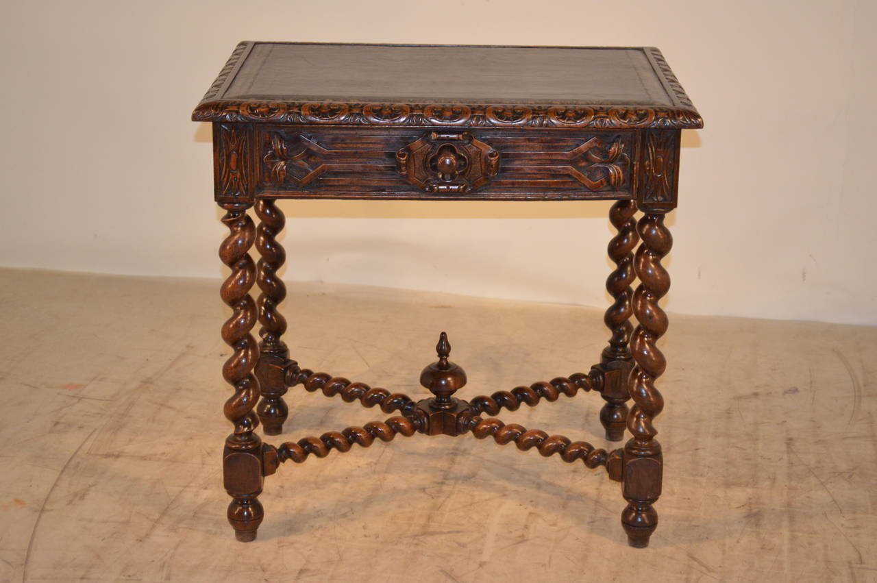 Napoleon III 19th Century, French Walnut Side Table For Sale