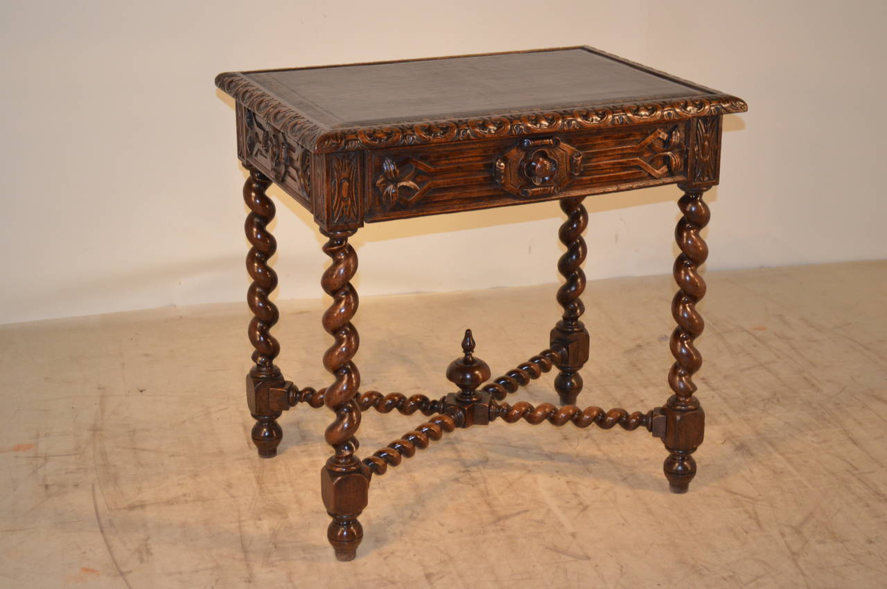 19th Century, French Walnut Side Table For Sale 2