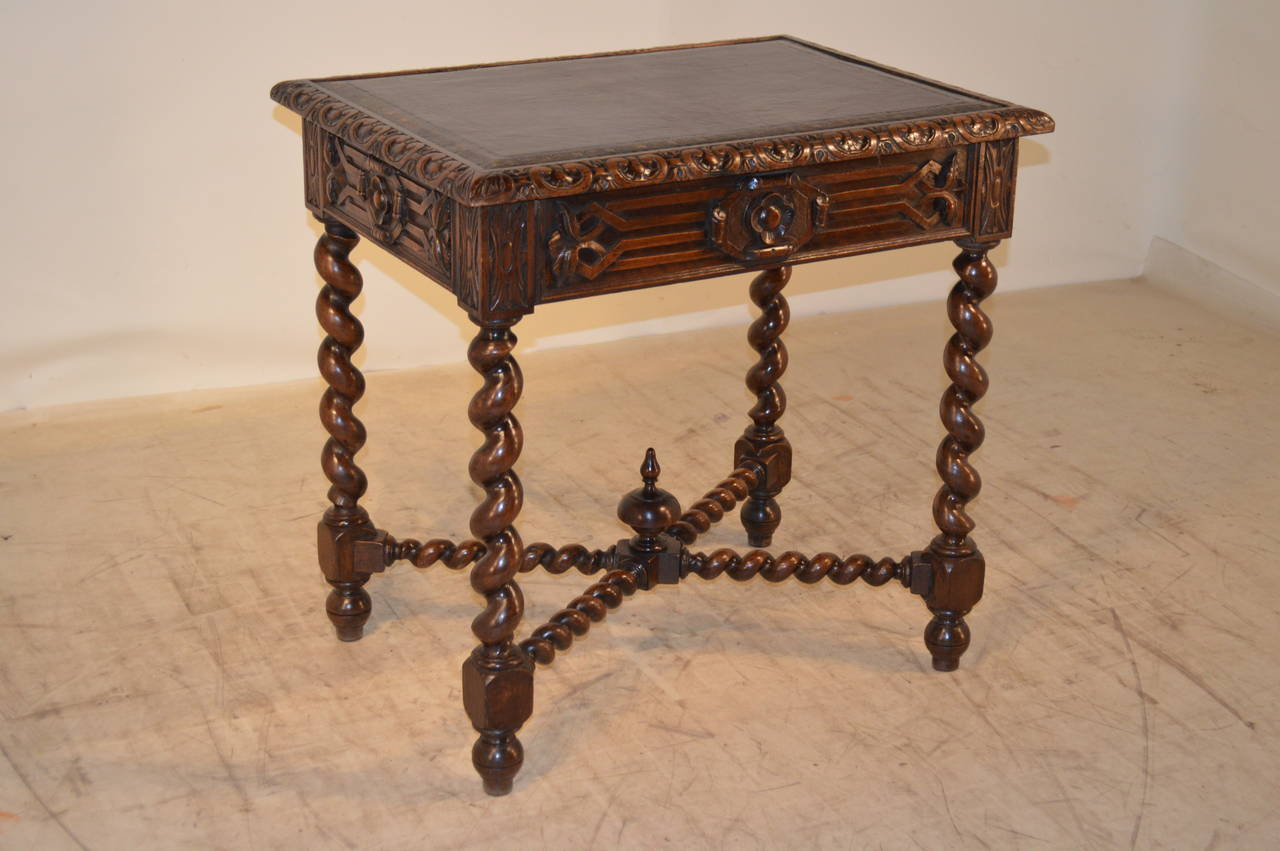 19th Century, French Walnut Side Table In Excellent Condition For Sale In High Point, NC