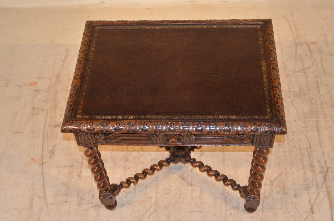 19th Century, French Walnut Side Table For Sale 1