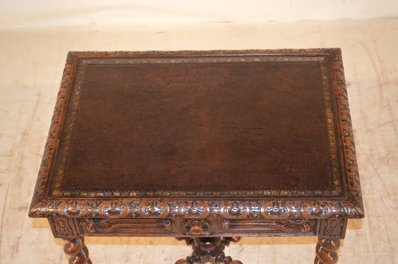 19th Century, French Walnut Side Table For Sale 3