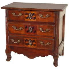 18th Century French Miniature Chest of Chestnut