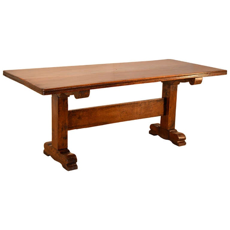 this early 19th century french walnut dining table is no longer