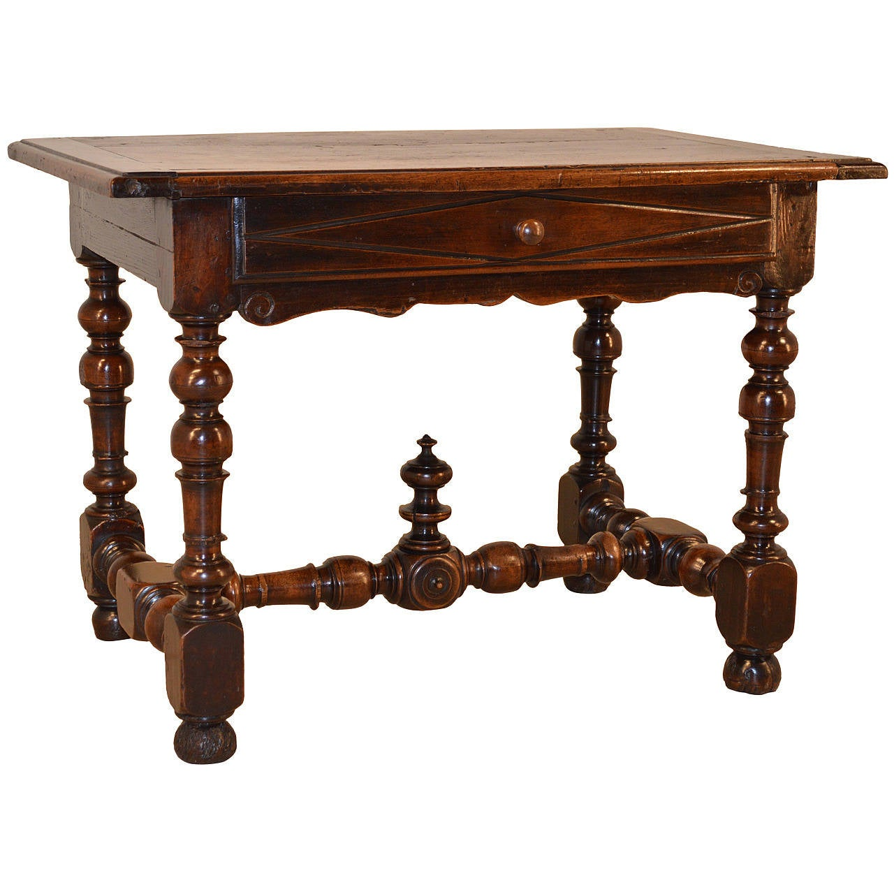 18th century french walnut side table for sale at 1stdibs for Walnut side table