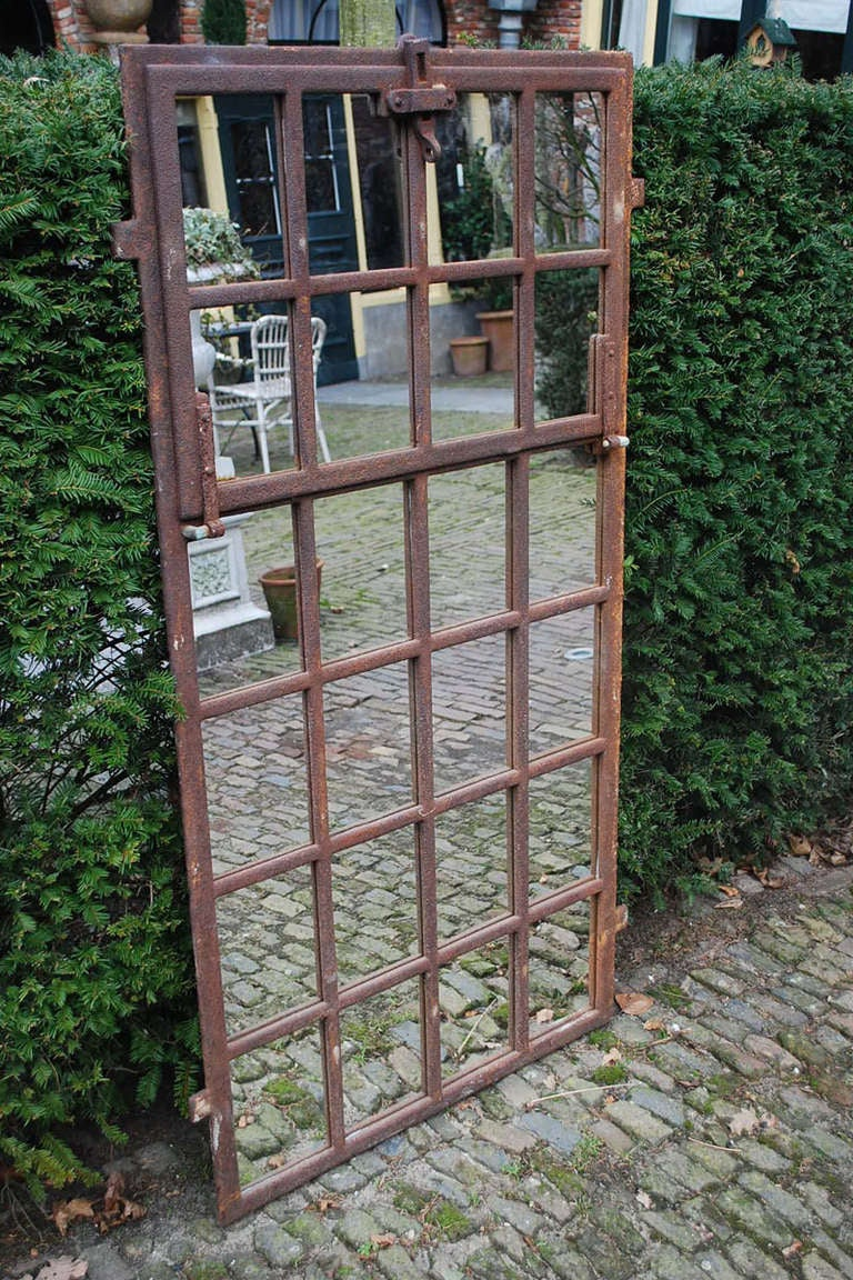 19th Century Cast Iron Window Frame As Mirror At 1stdibs